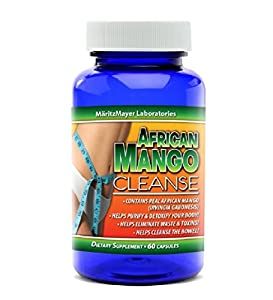 African Mango Cleanse Total Body Detox & Weight Loss Supplement 60 Capsules Per Bottle