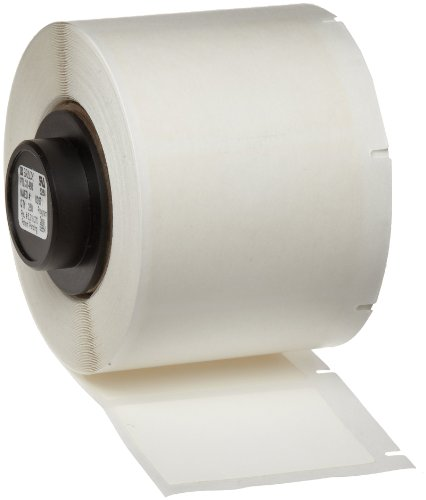 "Brady PTL-31-498 TLS 2200 And TLS PC Link 1.5"" Height, 1"" Width, B-498 Repositionable Vinyl Cloth, White Color Label (250 Per Roll)"