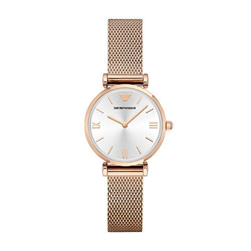 Emporio Armani AR1956 - Orologio da polso Donna, Acciaio inossidabile, colore: Oro Rosa