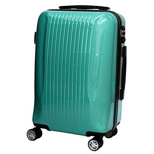 ダブルキャスター ファスナー スーツケース 2314 小型 アイスグリーン