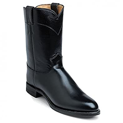 Justin Boots 3170 Men's 12-in Melo-Veal Boot Black 6 EEE US