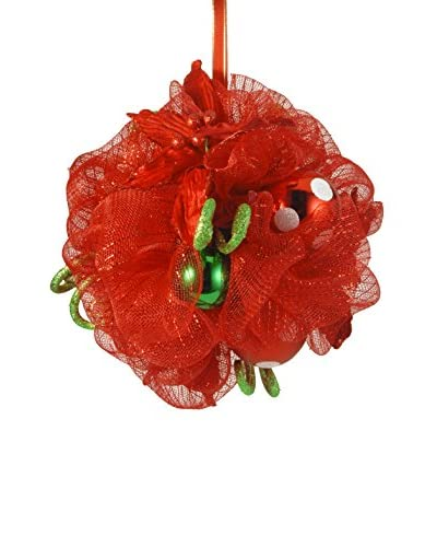 National Tree Company 12 Decorative Collection Red Ribbon Kissing Ball