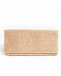 Foldover Clutch Bag Covered in Bugle Beads