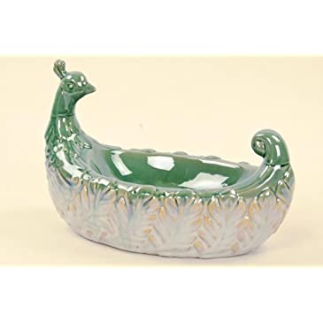 Ceramic Peacock Bowl
