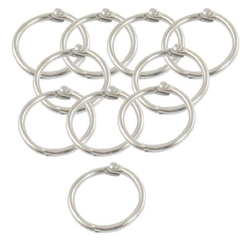 SODIALR-10-x-anneau-de-papierporte-cles-en-metal-Couleur-argent-08-de-diametre