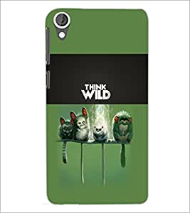 PrintDhaba Think Wild D-5961 Back Case Cover for HTC DESIRE 820 (Multi-Coloured)
