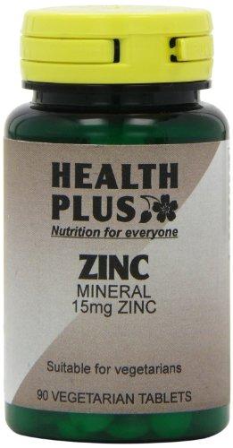 Health Plus Zinc 15mg Mineral Supplement - 90 Tablets