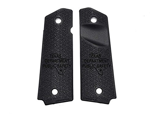 Police Tx Dps State Ol Engraved Full Size 1911 Magpul Grip Panels Mag524 Black By Ndz Performance