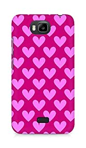 Amez designer printed 3d premium high quality back case cover for Huawei Honor Bee (Cool Hearts Pattern1)