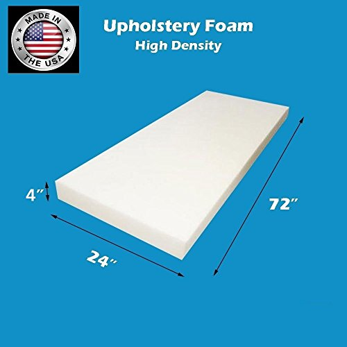 Find Bargain FoamTouch Upholstery Foam Cushion High Density 4 Height x 24 Width x 72 Length Made ...