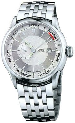 Oris Men's 64575964051MB Artelier Silver Day Date Dial Watch