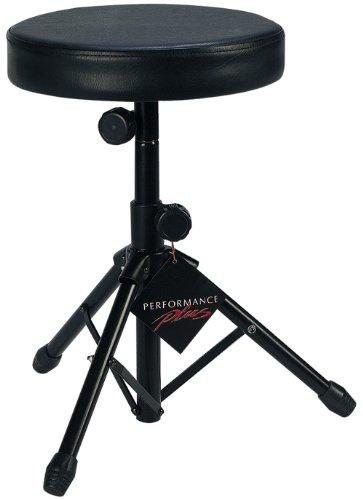 Performance Plus Dtt-1 Drum Throne Heavy Duty Black Tubular Steel Legs