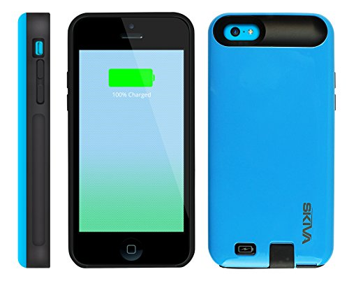 [Apple Mfi Certified] Skiva Powerskin Ip5C Protective Battery Case (2000Mah) With *Unblocked Lightning & Audio Port* For Fast Charging Of Iphone 5C [Model No.: Ap107] - 1 Year Warranty & Lifetime Support