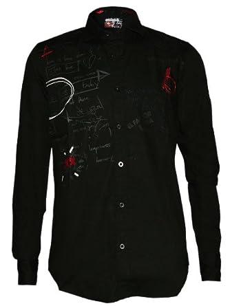 DESIGUAL Homme Designer Chemise Shirt - PLIM -S