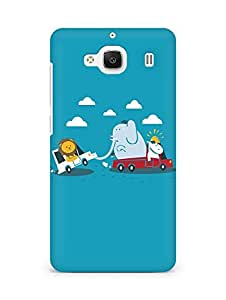 Amez designer printed 3d premium high quality back case cover for Xiaomi Redmi 2 (Funny Cartoon)