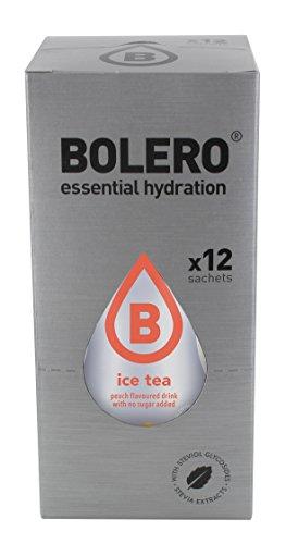 12 x Bolero Powdered Drinks Ice Tea 8 g sachet Pesca