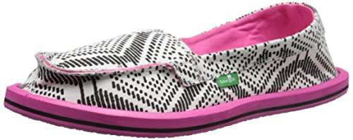 Sanuk Kids Light Bright Sidewalk Surfer Shoe (Little Kid/Big Kid), Black Tribal, 2 M US Little Kid