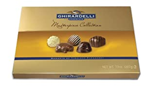 Ghirardelli Chocolate Masterpiece Chocolate Assortment Collection, 7.3-Ounce Box