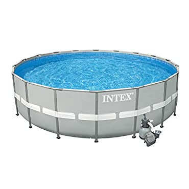 Intex 20' x 52 Ultra Frame Above Ground Swimming Pool Set with Sand Filter Pump