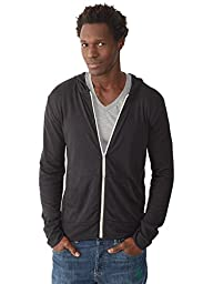 Alternative Mens Basic Eco-Jersey Zip Hoodie X-Small Eco True Black