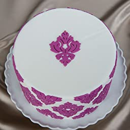 Damask Medallion Silicone Onlay by Marvelous Molds