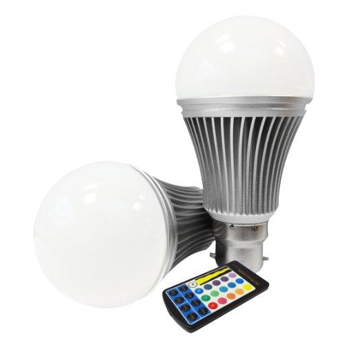 Miniwatts B22 6W Rgb Colour Changing Led Globe Light Bulb With Memory Capacity