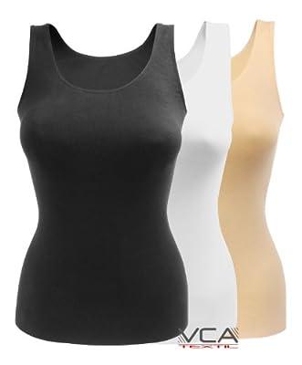 Nahtlose seamless Damen Unterhemd / Top aus geschmeidigem Microfaser Material, in 3 Farben wählbar