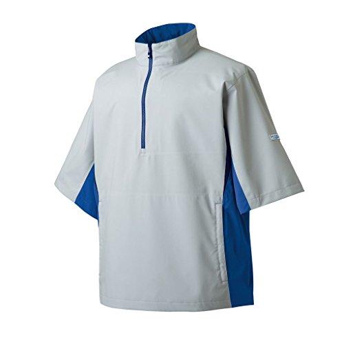 FootJoy HydroLite Short Sleeve Rain Golf Shirt 2015 Silver/Nautical Blue/Black Large
