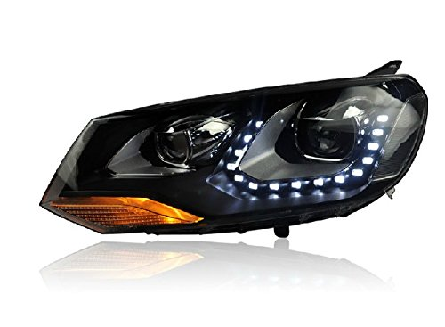 Auptech Volkswagen Toureg 2012 Headlight Assembly Angel Eyes Halogen Hid Led Projector Headlight Lamp
