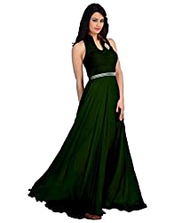 Pooja Women gown Unstitched_Green