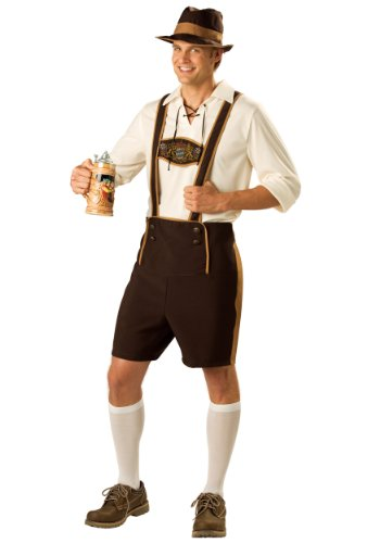 Incharacter Mens German Beer Bavarian Guy Fest Lederhosen Holiday Costume