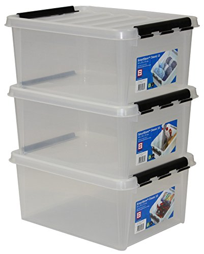 Orthex-35083903-3er-Set-Clipbox-Smart-Store-Classic-15-14-Liter-transparent
