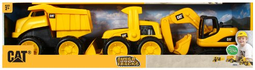 Toy State Caterpillar Tough Tracks, 3-Pack (3
