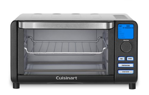Cuisinart TOB-100BW Compact Digital Toaster Oven Broiler, Black Wrinkle (Compact Digital Toaster Oven compare prices)