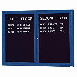 Aarco Products ADC4860IB Illuminated Enclosed Directory Cabinet - Blue