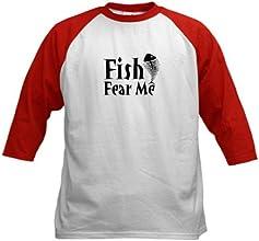 CafePress Kids Baseball Jersey - Fish Fear Me Kids Baseball Jersey