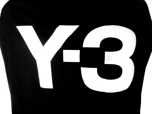 Y-3 Yohji Yamamoto Side Logo Tee in Black/White из США
