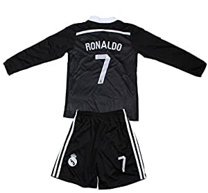 Amazon.com : FCRM REAL MADRID #7 RONALDO KIDS BLACK LIMITED EDITION