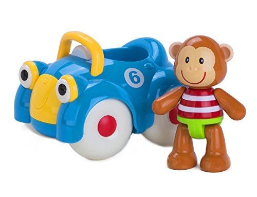 Early Learning Centre (ELC) Toybox Monty Monkey and his Motor Car Baby Toy - 1