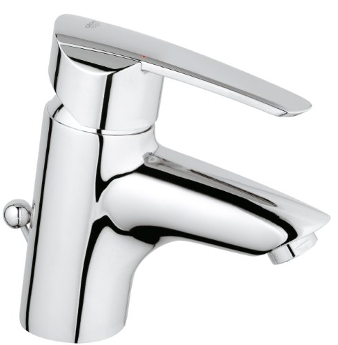 grohe-wave-single-lever-basin-mixer-a-modern-tap-with-a-pop-up-waste-and-quality-chrome-finish-deck-