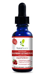 Raspberry Ketones Liquid - 100 Natural Weight Loss Drops - Super Fast Absorbing Premium Liquid Raspberry Ketones Formula - Sublingual Drops Absorb Into Your Body Three 3 Times Faster Than Capsules - 60 Servings Per Bottle - Full Thirty 30 Day Supply from