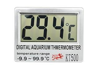 LCD Digital Fish Aquarium Thermometer LCD Display Reading Selectable Temp Unit