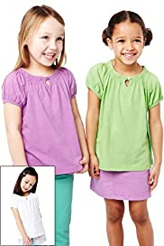 3 Pack Pure Cotton Slub T-Shirts