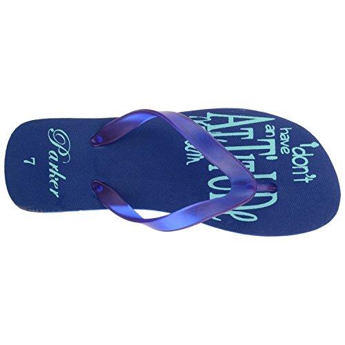 0577ef8a64dd Buy Parker Footwear Navy   Sky Rubber Slippers for Men on Amazon ...