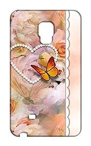 Samsung Galaxy Note Edge Floral Print Design Mobile Case Hard Back Cover for girls - Printed Designer Cover - SGNEFLRLB134