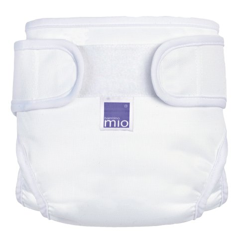 Bambino Mio Miosoft Cloth Diaper Cover - Hook & Loop - White - Large