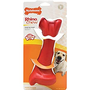 Amazon Com Nylabone Super Tuff Rhino Bone Dog Chew Toy