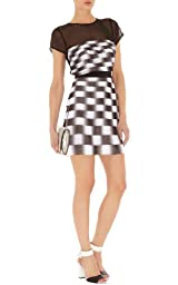 Georgette Stripe Dress