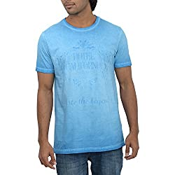 Inego Men's Casual Round Neck T- Shirt (Vintage Red )