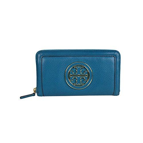 d892f4b3002 Best Price Tory Burch Amanda Logo Zip Continental Wallet Electric ...